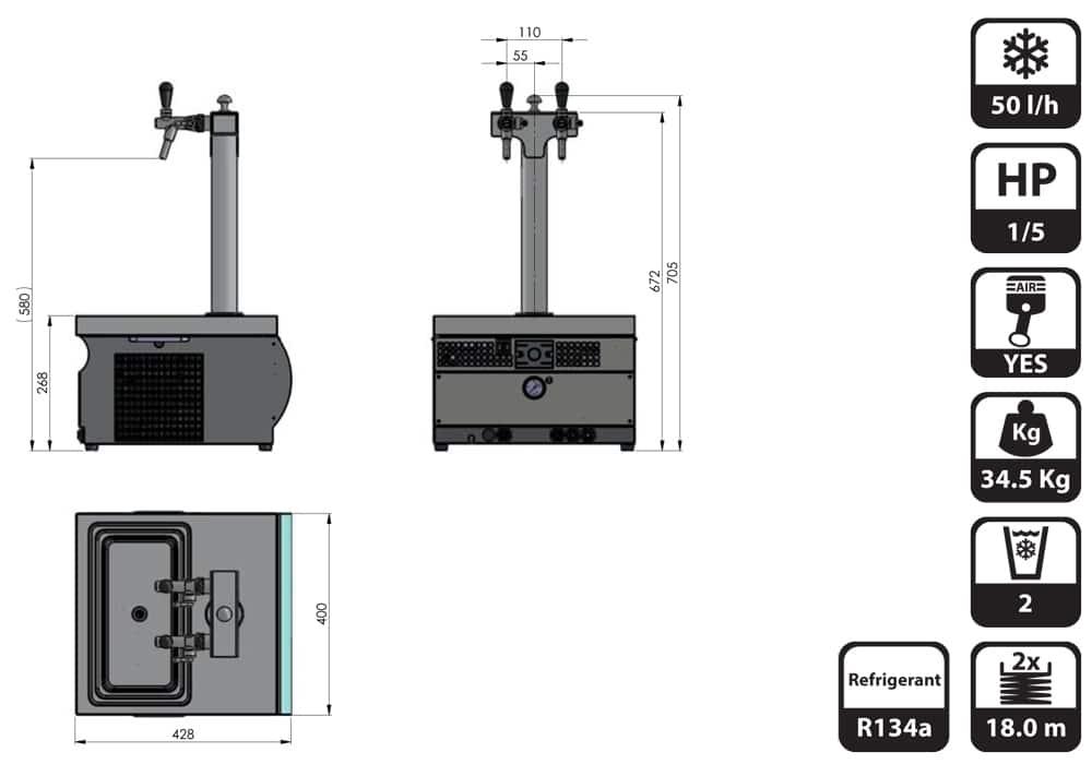 DBCS-PT50AC-dimensions