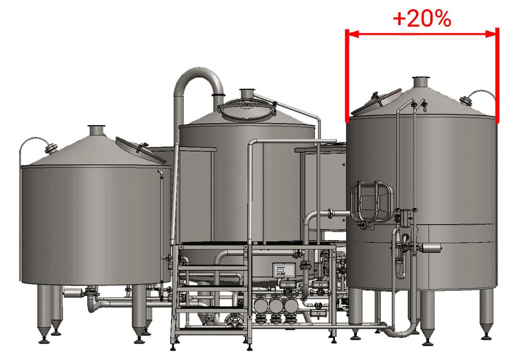 ELT enlarged lauter tun 1000 - BH-OPT-EFT30 Enlarged filtration tank 3000L - oeft, eft