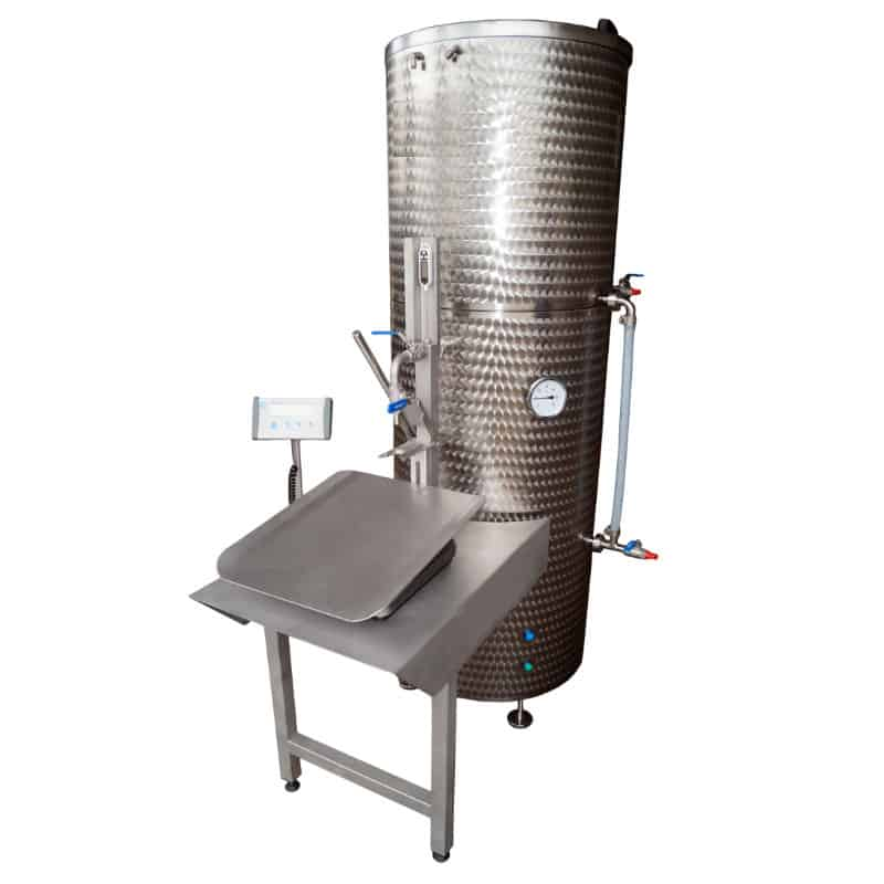 EPBBF 300MG 01 - EPBBF-300MG Electric pasteuriser and filling system of BAG-IN-BOX 300 liters/hr for non-carbonized beverages - bfp, pff