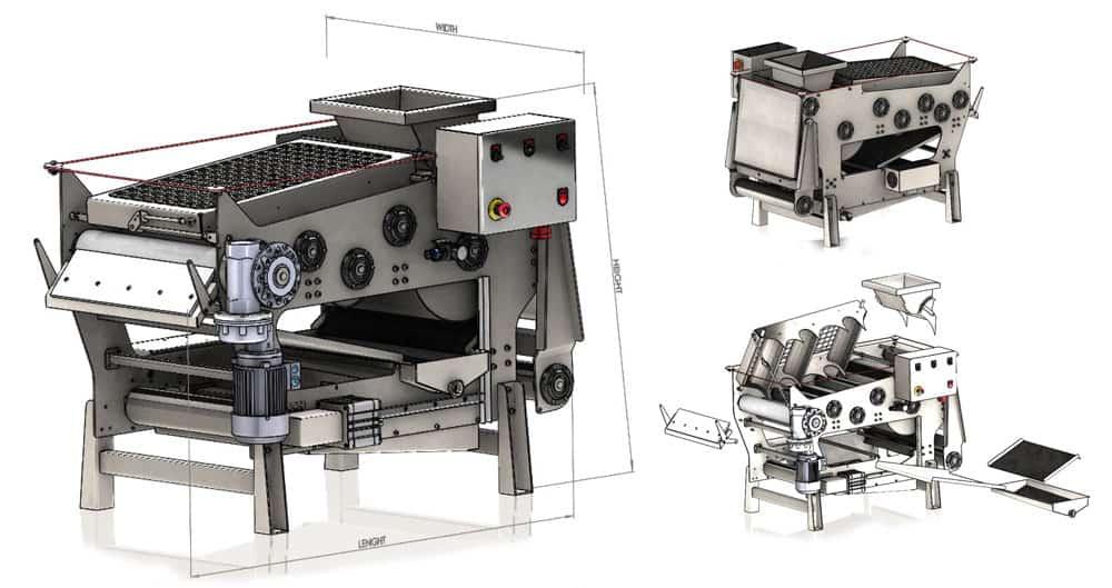 FBP 300 500 800 draw01 - FBP-300-BP : Fruit belt press 300 kg/hour - bpf