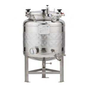 FMT-SLP-100H Round-bottom fermenter, non-insulated, cooled by liquid, 100/120 liters 1.2 bar