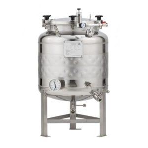 FMT-SLP-100H Round-bottom fermenter, non-insulated, cooled by liquid, 100/120 liters 1.2 bar