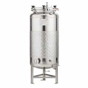 FMT-SLP-200H Round-bottom fermenter, non-insulated, cooled by liquid, 200/240 liters 1.2 bar