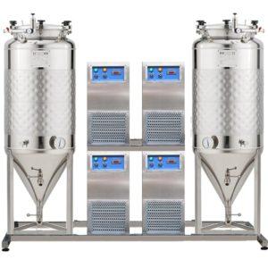 FUIC-SHP4C-2x1000CCT Compact fermentation unit 2×1000/1170 liters 2.5 bar