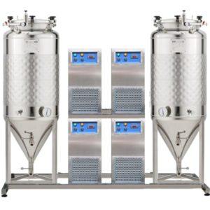 FUIC-SLP4C-2x1200CCT Compact fermentation unit 2×1200/1404 liters 1.2 bar