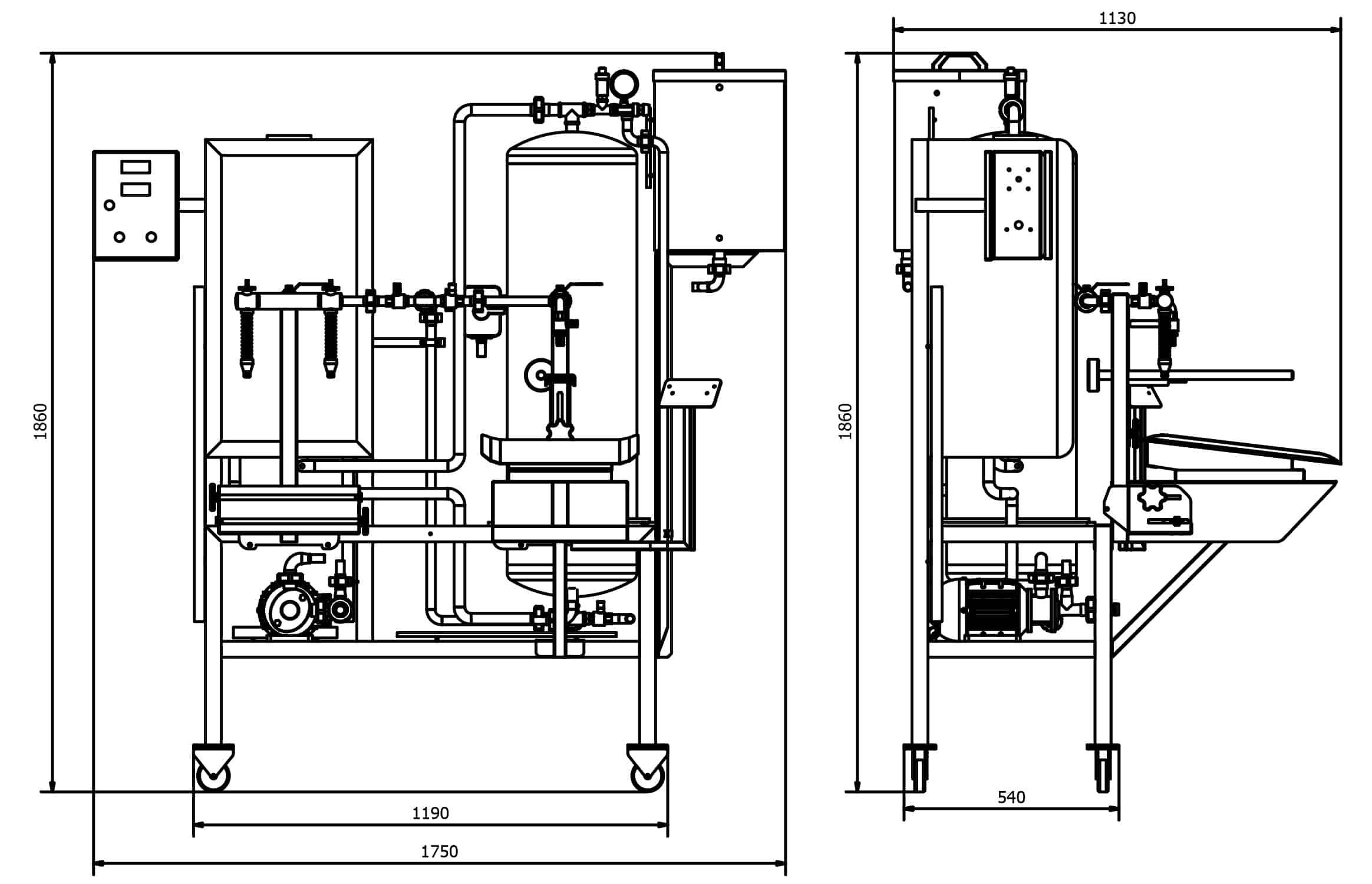 Pasteuriser-GPBBF-300MG-dimensions