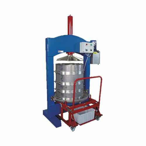 HPF 600S 02 - HPF-700ES Electric hydraulic fruit press 330 liters - hpf