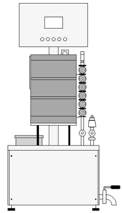 KRF 21 keg rinser filler 02 - KRF-21 Machine for the semiautomatic rinsing and sanitizing of kegs 12-20 kegs/hour - krf