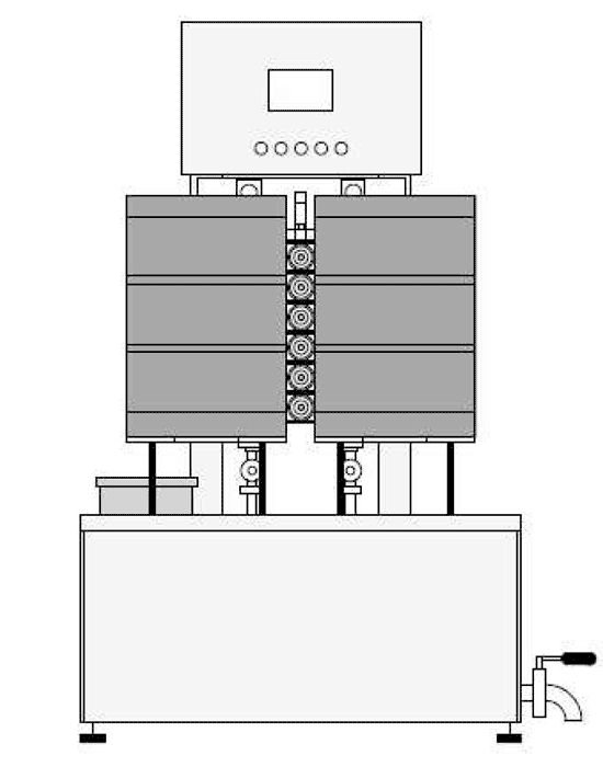 KRF 40 scheme 01 - KRF-42 Machine for the semiautomatic rinsing and sanitizing of kegs 25-40 kegs/hour - krf