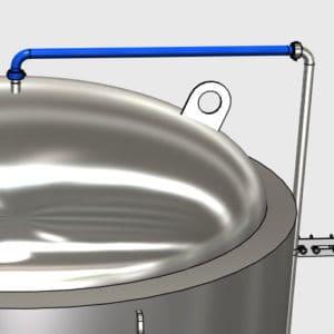 MTS-CS1-DN25TT Upper sanitizing pipe DN25TC/DN25TC without valve