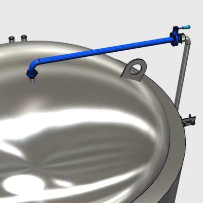 SPU sanitizing pipe upper