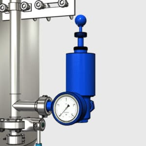 MTS-RV1-DN25TC Pressure adjusting apparatus with manometer and air-lock for CCT-M modular fermentors