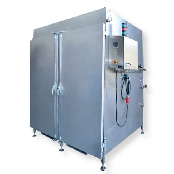 PCH 960 02 pasteurizer 600x600 - PCH-960 : Chamber steam pasteuriser (for 960 bottles on 2 palletes) - pch