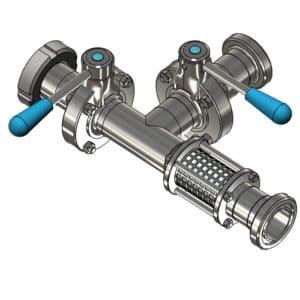 PFH-DIN11851-25 Beverage hose splitter DN25