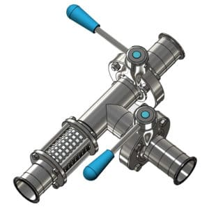 PFH-DIN32676-25 Beverage hose splitter DN25