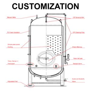 PTA-1000 Customization pressure tanks 0-1000L