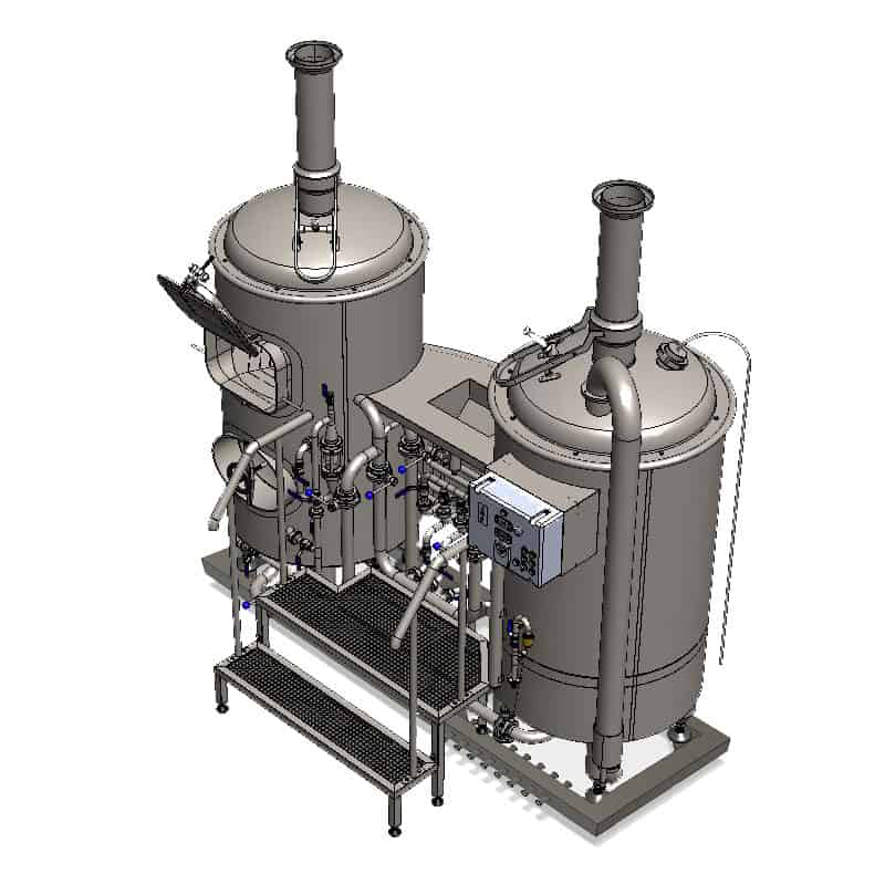 MODULO CLASSIC 250 wort brew machine - perspective view