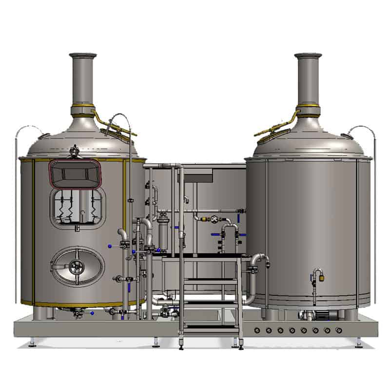 Modulo Classic 500 brewhouse - front view on the wort brew machine
