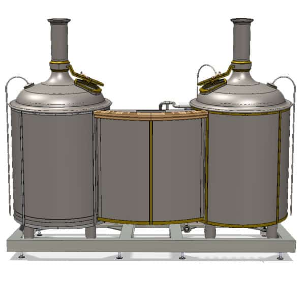 Modulo Classic 500 brewhouse - rear view on the wort brew machine