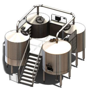 BREWORX QUADRANT 500MR : Wort brew machine – special type to production wort from malt, rice and hops