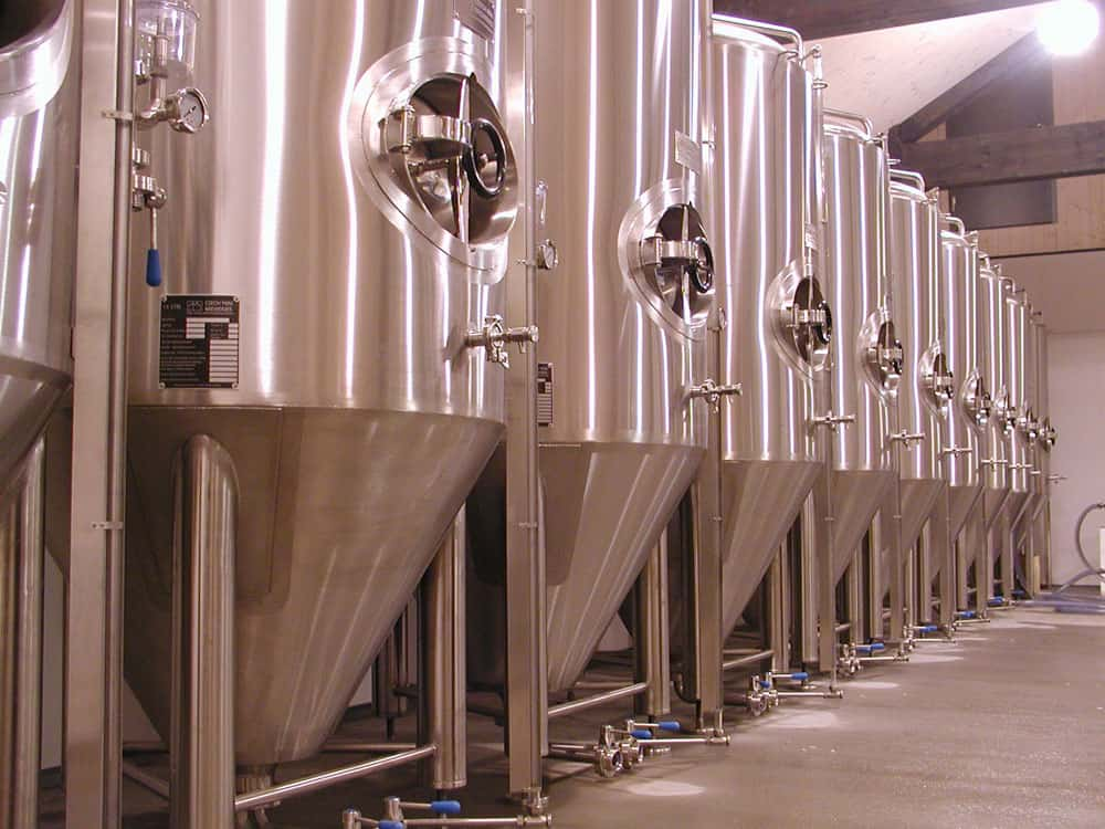 Cylindrically-conical tanks - cone fermentors with Craft design for fermentation of beer, cider, wine