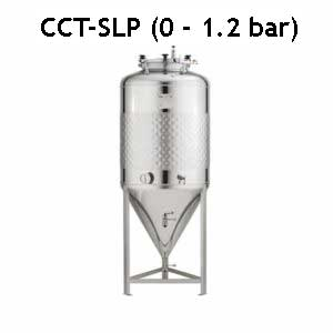 CCT-SLP Cylindrically-conical fermentation tanks, simplified, non-insulated, maximal pressure 1.2bar