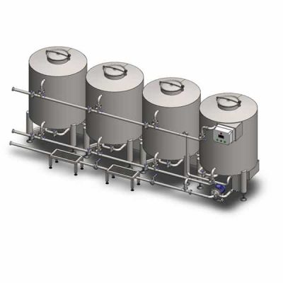 CIP-504 : Cleaning and sanitizing station 4×500 liters