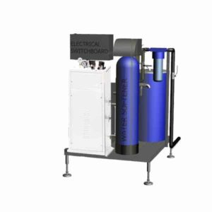 ESG-7MWT Electric steam-generator compact 7kg/hr (on the stainless steel frame, with water treatment)