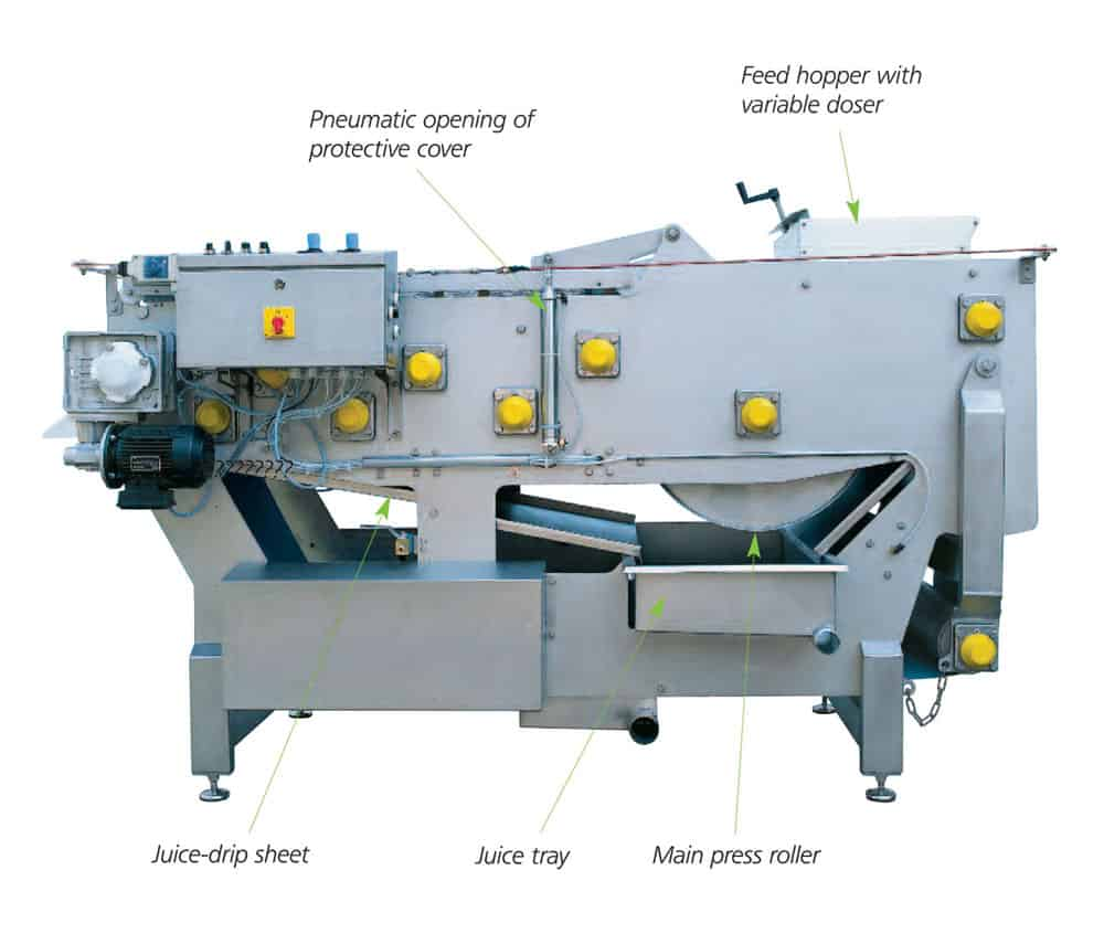 fbp 2400 1000x900 description - FBP-2400-A : Fruit belt press 2400 kg/hour - bpf