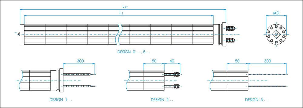 heating elements dimensions 01 - CM-HEEL-230V-2200W Consumption material : Heating  element 230V 2200W - ssc, krf, cipao