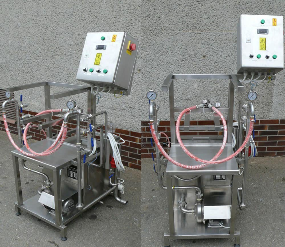 kcm 10 foto 01 - KCM-10 Machine for the manual rinsing and filling of stainless steel kegs 7-10 kegs/hour - hba, krf