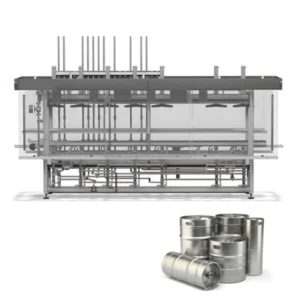 KWFL-90 | Multifunction filling line for stainless steel kegs : rinsing, sanitizing, filling of 90-60 kegs per hour