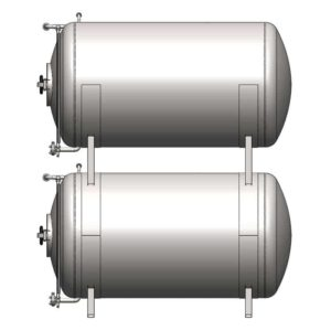 BBTHI-100C Cylindrical pressure tank for storage and final conditioning of carbonated beverage before bottling, horizontal, insulated, 100/120 liters, 3.0bar