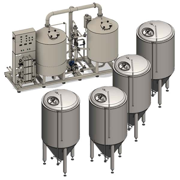 BREWORX LITE-ECO 1000 breweries - the wort brew machine to production wort from malt extract