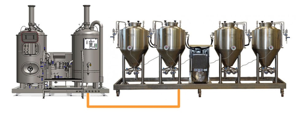 BREWORX MODULO CLASSIC 251 modular breweries equipped with 250 L fermentors