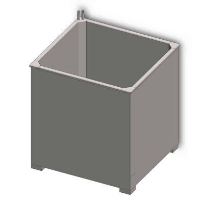 Opened fermentation vat