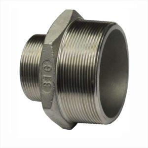 PF-PR10M12M-SS Pipe Reducer G 1″M to G 1/2″M Stainless steel