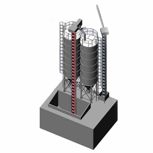 ssm silos storage malt 600x600 02 - MSS-2x40 Malt storage silo 2x40m3 - the fully equipped system - storage-silos