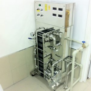 WCASB-3000 Compact cooler and aerator of wort 3000 liters per hour
